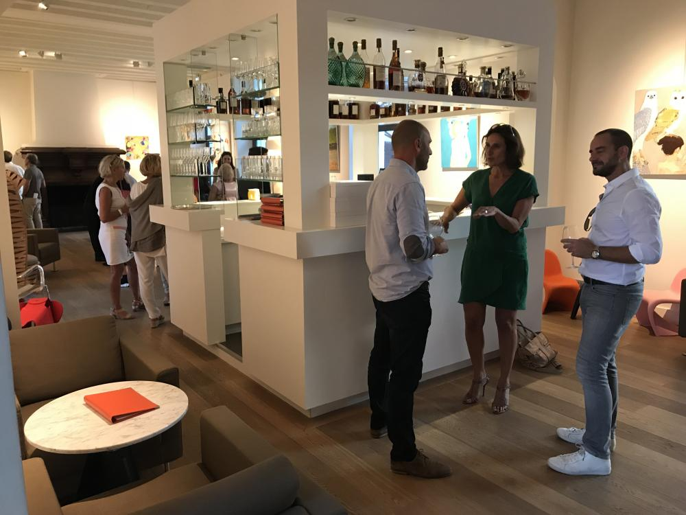 Exhibition's opening at Hôtel Relais et Château Le Saint James